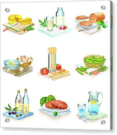 Close-up Of Food Stuff Acrylic Print by Eastnine Inc.