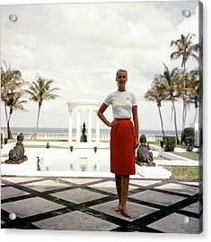 Cz Guest Acrylic Print by Slim Aarons
