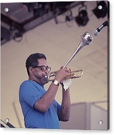 Dizzy Gillespie Performs At Newport Acrylic Print by David Redfern