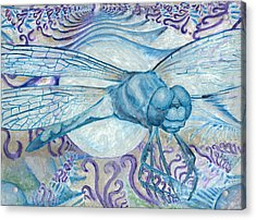 Dragonfly Moon Acrylic Print