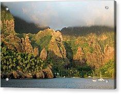 France, French Polynesia, Marquesas Acrylic Print by Gerault Gregory / Hemis.fr
