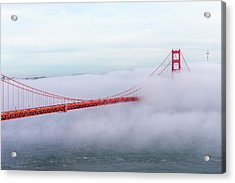 Golden Gate Bridge With Low Fog, San Acrylic Print by Spondylolithesis
