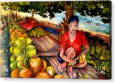 Green Coconut Cafe. Acrylic Print