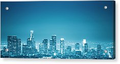 Los Angeles Skyline Acrylic Print by Franckreporter