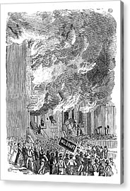 New York City Draft Riots, 1863 Acrylic Print by British Library