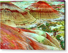 Painted Hills John Day Fossil Beds Acrylic Print