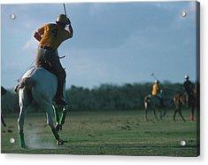 Polo Match Acrylic Print by Slim Aarons