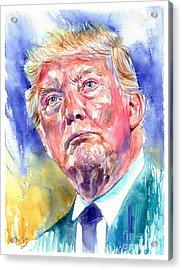 President Donald Trump Portrait Acrylic Print