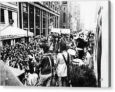 Rolling Stones On Fifth Avenue Acrylic Print by Fred W. McDarrah