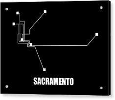 Sacramento Black Subway Map Acrylic Print