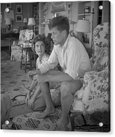 Senator Kennedy Goes A Courting Acrylic Print by Hy Peskin Archive
