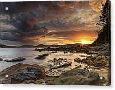 Stormy Sunrise Seascape Acrylic Print