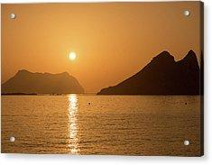 Sunrise On A Beach In Aguilas, Murcia Acrylic Print