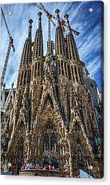 Acrylic Print featuring the photograph The Expiatory Temple Of The Holy Family by Eduardo Jose Accorinti