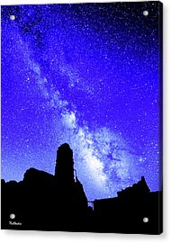 The Milky Way Over The Crest House Acrylic Print