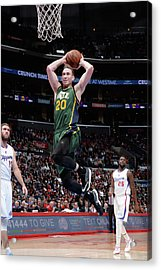 Utah Jazz V Los Angeles Clippers Acrylic Print