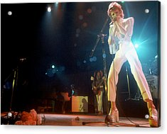 Ziggy Stardust Era Bowie In La Acrylic Print by Michael Ochs Archives