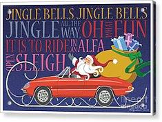 2012 Alfa Club Christmas Card Acrylic Print
