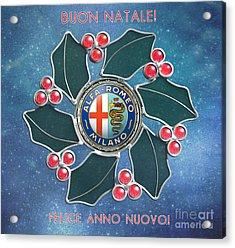 2014 Alfa Club Christmas Card Acrylic Print
