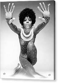 Diana Ross Portrait Session Acrylic Print by Harry Langdon