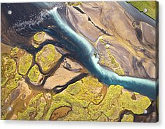 Iceland Aerial View Acrylic Print by Werner Van Steen