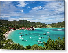French West Indies, St-barthelemy Acrylic Print by Walter Bibikow