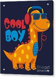 Cool Dinosaur Character Design Acrylic Print