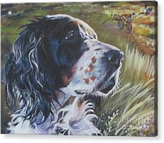 English Setter In The Field Acrylic Print