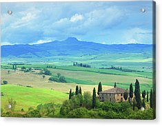 Farm In Tuscany Acrylic Print by Mammuth