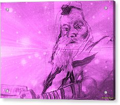 Lubavitcher Rebbe Acrylic Print by Miriam haya Elbaz