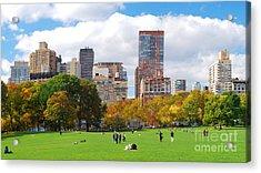 New York City Manhattan Skyline Acrylic Print