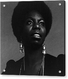 Nina Simone Acrylic Print by Jack Robinson