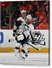 Pittsburgh Penguins V Philadelphia Acrylic Print by Bruce Bennett