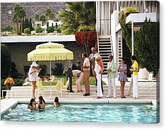 Poolside Party Acrylic Print by Slim Aarons
