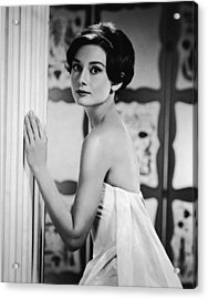 Portrait Of Audrey Hepburn Acrylic Print by Hulton Archive