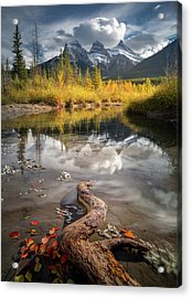 Acrylic Print featuring the photograph 3 Sisters Delight / Canmore / Alberta, Canada by Nicholas Parker
