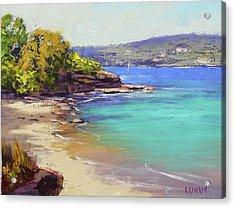 Sydney Harbour Beach Acrylic Print