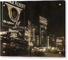 Times Square Acrylic Print by Edwin Levick