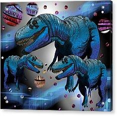 Tyrannosaurus Three Moons Acrylic Print
