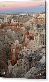 Unique Colorful Formations Of Coal Acrylic Print by Adam Jones