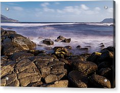 Acrylic Print featuring the photograph View Of Cloudy Bay In Bruny Island, Tasmania, Australia. by Rob D