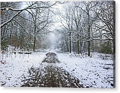 30/01/19  Rivington. Lower Barn. Arboretum Path. Acrylic Print