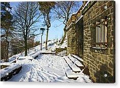 30/01/19  Rivington. Summerhouse In The Snow. Acrylic Print