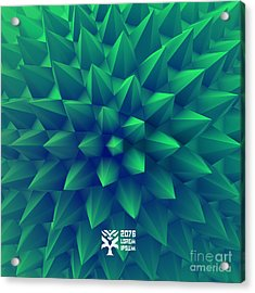 3d Abstract Background. Vector Acrylic Print