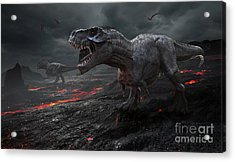 3d Rendering Of The Extinction Of The Acrylic Print