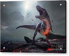 3d Rendering Of Tyrannosaurus Rex Near Acrylic Print