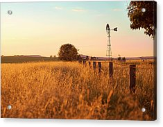Acrylic Print featuring the photograph Australian Windmill In The Countryside by Rob D