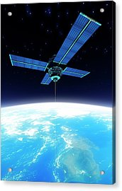 Space Elevator, Artwork Acrylic Print by Victor Habbick Visions