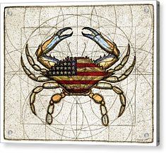 4th Of July Crab Acrylic Print
