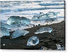 The Diamond Beach, Jokulsarlon, Iceland Acrylic Print